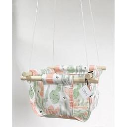 Cyan Degre Cyan Degre - Balançoire Suspendue/Suspended Swing, Cactus Corail/Coral Cactus