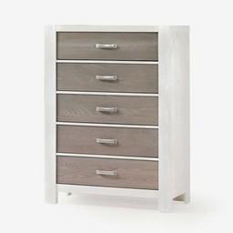 Natart Juvenile Natart Rustico Moderno - Commode à 5 Tiroirs/5 Drawer Dresser, Blanc-Hibou/White-Owl