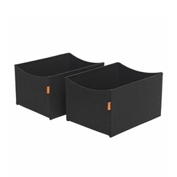 Leander Leander - Boîte de Rangement pour Table à Langer/2 Storage Box for Changing Station, Noir/Black