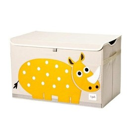 3 sprouts 3 Sprouts - Coffre à Jouets/Toy Chest, Rhino Jaune/Yellow Rhino