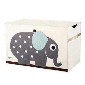 3 sprouts 3 Sprouts - Coffre à Jouets/Toy Chest, Éléphant Gris/Grey Elephant