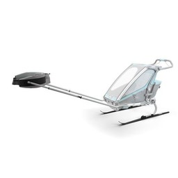 Thule Thule - Trousse de Ski pour Chariot Sport, Cross ou Lite/Thule Sport, Cross or Lite Chariot Ski Kit, Noir et Argent/Black and Silver