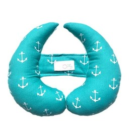 Oops Oops - Coussin de Tête Évolutif, Ancres Turquoise/Scalable Head Cushion, Turquoise Anchor
