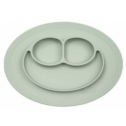 Ezpz EzPz - Napperon et Assiette Tout-en-un Mini Mat/Mini Mat All-in-one Placemat and Plate, Sauge/Nordic Sage