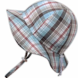 Twinklebelle Twinklebelle - Chapeau Soleil Ajustable en Coton/Grow With Me Cotton Sun Hat, Carreaux d'Été/Summer Plaid