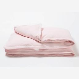 Bouton Jaune Bouton Jaune - Housse de Couette pour Lit de Bébé en Coton Organique, Trois Petits Pois/Trois Petits Pois Organic Cotton Crib Duvet Cover, Rose/Pink