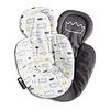 4moms 4moms - Coussin de Support Réversible pour Siège mamaRoo 4.0/Reversible Newborn Insert for MamaRoo 4.0 Infant Seat, Couronnes/Little Royal