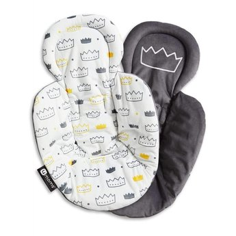 4moms 4moms - Coussin de Support Réversible pour Siège mamaRoo 4.0/Reversible Newborn Insert for MamaRoo 4.0 Infant Seat, Couronnes/Little Royal