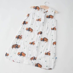Little Unicorn Little Unicorn - Sac de Nuit en Mousseline de Coton/Cotton Muslin Sleep Bag, Bison