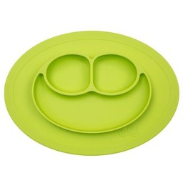 Ezpz EzPz - Napperon et Assiette Tout-en-un Mini Mat/Mini Mat All-in-one Placemat and Plate, Lime