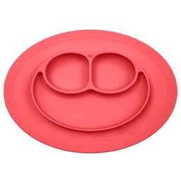 Ezpz EzPz - Napperon et Assiette Tout-en-un Mini Mat/Mini Mat All-in-one Placemat and Plate, Corail/Coral