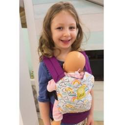 Lillé Baby Lillé Baby - Porte-poupée/Doll Carrier, Nuage et Rose/Cloud and Pink
