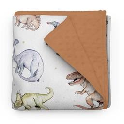 Olé Hop Olé Hop - Couverture en Peluche/Minky Blanket, Dinosaures/Dinosaurs