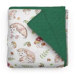 Olé Hop Olé Hop - Couverture en Peluche/Minky Blanket, Hérissons/Hedgehog