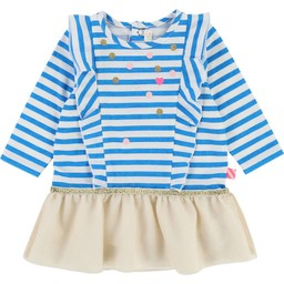 Billieblush BillieBlush - Robe Rayée à Pois/Striped Dress with Dots