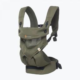 Ergobaby Ergobaby 360 Cool Air Mesh - Porte-Bébé/Baby Carrier, Vert Kaki/Khaki Green