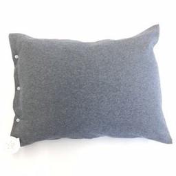 Bouton Jaune Bouton Jaune - Cache Oreiller 12x16/ Cover pillow 12x16, Mon Petit Loup, Gris/Grey