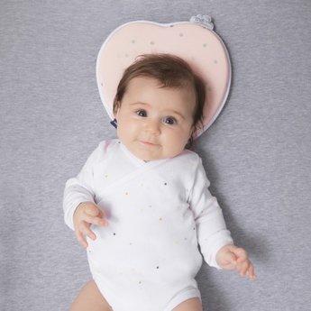 Babymoov Babymoov - Cale-Tête Ergonomique en Coton Doux/Soft Cotton Lovenest, Rose/Pink