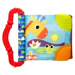 Bright Starts Bright Starts -Jouet de Dentition et Lecture/Teethe & Read, Rouge/Red