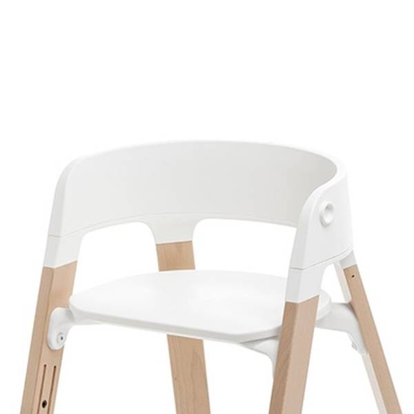 stokke steps assise pour chaise haute high chair seat blanc white charlotte et charlie. Black Bedroom Furniture Sets. Home Design Ideas