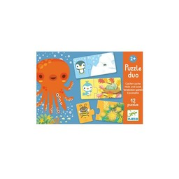 Djeco Djeco - Casse-tête Duo Cache-cache/Hide and Seek Puzzle Duo
