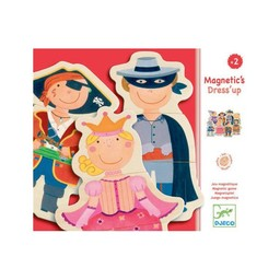 Djeco Djeco - Aimants pour le Frigo en Bois Magnetic's Dress'up/Dress'up Wooden Fridge Magnets
