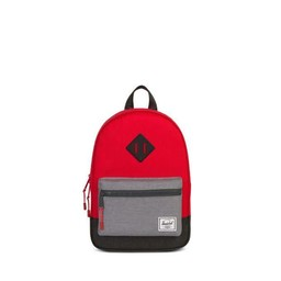 Herschel Herschel - Sac à Dos pour Enfants Héritage/Heritage Kids Backpack, Cerise Gris/Cherry Grey