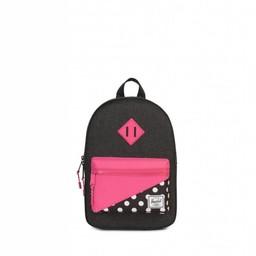 Herschel Herschel - Sac à Dos Héritage Junior/Heritage Backpack Youth, Gris Pâle, Pois Rose/Polka Dots Pink