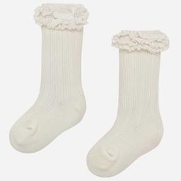 Mayoral Mayoral - Chaussettes à Volants/Ruffled Socks, Ecru
