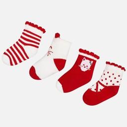 Mayoral Mayoral - Paquet de 4 Paires de Chaussettes/Set of 4 Pairs of Socks, Cerise/Cherry