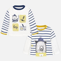 Mayoral Mayoral - Chandail Fantaisie Ourson Ancre/Fantasy Sweater Bear Anchor