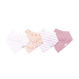 Copper Pearl Copper Pearl - Paquet de 4 Bavoirs/Set of 4 Bibs, Lola, Métallique