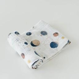 Little Unicorn Little Unicorn - Couverture en Mousseline de Coton à l'Unité/Single Cotton Muslin Blanket, Planetary