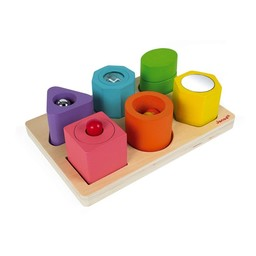 Janod Janod - 6 Cubes Sensoriels/6 Blocks Puzzle