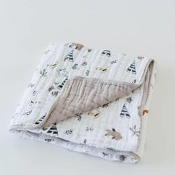 Little Unicorn Little Unicorn - Couette en Mousseline de Coton/Cotton Quilt, Amis de la Forêt/Forest Friends