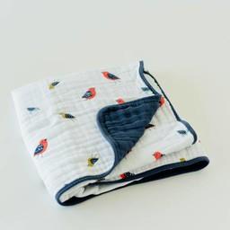 Little Unicorn Little Unicorn - Couette en Mousseline de Coton/Cotton Quilt, Petits Oiseaux/Little Wings