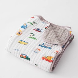Little Unicorn Little Unicorn - Couette en Mousseline de Coton/Cotton Muslin Quilt, Camion de Rue/Food Truck