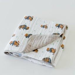 Little Unicorn Little Unicorn - Couette en Mousseline de Coton/Cotton Quilt, Bison