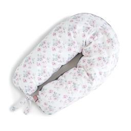 Coussins Etc. Coussins Etc - Grand Coussin de Microbilles/Big Cushion of Microbeads, Fleurs Roses/Pink Flowers