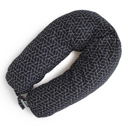 Coussins Etc. Coussins Etc - Grand Coussin de Microbilles/Big Cushion of Microbeads, Géo Noir/Black Geo