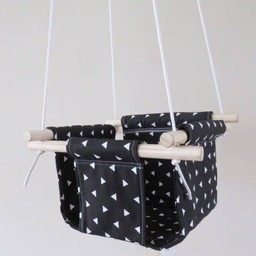 Cyan Degre Cyan Degre - Balançoire Suspendue/Suspended Swing, Noir Triangles/Black Triangles