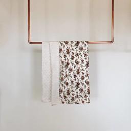 Petite Lou & Co Petite Lou & Co - Couverture pour Bassinette/Blanket for Crib, Les Fleurs