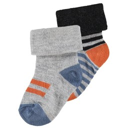 Noppies Noppies - Paquet de 2 Paires de Bas Trinity/Trinity 2 Pairs of Socks, Smoke