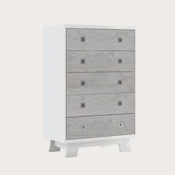 Dutailier Dutailier Pomelo - Commode à 5 Tiroirs/5 Drawer Dresser, Gris Rustique/Rustic Grey