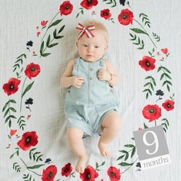 Little Unicorn Little Unicorn - Couverture pour photo/Photo Blanket, Summer Poppy