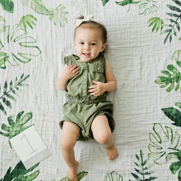 Little Unicorn Little Unicorn - Couverture pour photo/Photo Blanket, Tropical Leaf