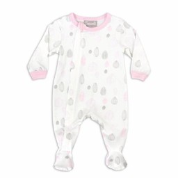 Coccoli Coccoli - Pyjama à Pattes en Jersey Modal/Modal Jersey Footie, Noix Roses/Pink Nut