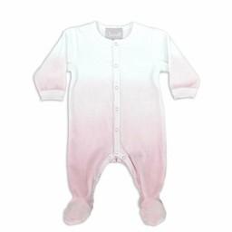 Coccoli Coccoli - Pyjama à Pattes en Velour/Velour Footie, Rose Ombré/Pink Ombre