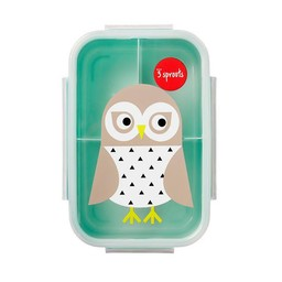 3 sprouts 3 Sprouts - Plat à Lunch/Bento Box, Hibou/Owl
