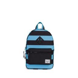 Herschel Herschel - Sac à Dos Héritage pour Enfants/Heritage Backpack Kids, Bachelor Rayures Noirs/Bachelor Stripes Black